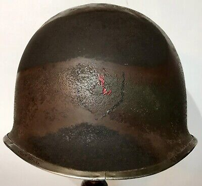 $ CDN2167.46 • Buy WWII US 1st INFANTRY DIVISION M-1 HELMET WITH CAMO