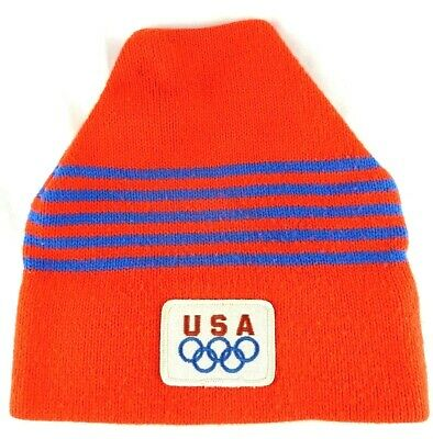 Red Official Team USA Olympic Beanie Winter Hat Made In USA USOC 36 USC 380  • 01eb7a474f2d