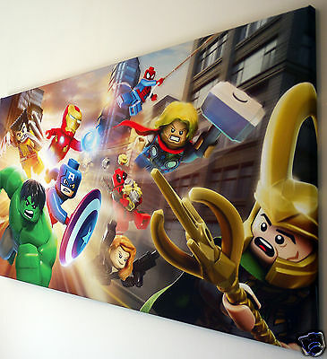 £20.99 • Buy LEGO MARVEL CANVAS PRINT WALL ART PICTURE  18 X 32 INCH
