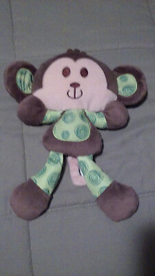 113e9cbbe86762 BABY GEAR Brown Green Monkey Plush Stuffed Animal Lovey Soft Security Toy •  7.99