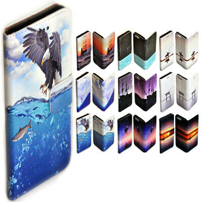 AU14.98 • Buy For OPPO Series - Seascape Theme Print Wallet Mobile Phone Case Cover #1