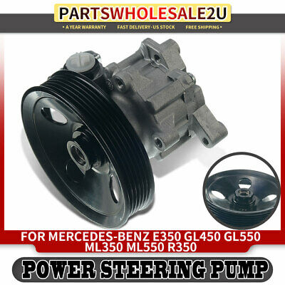 Power Steering Pump W/ Pulley For Mercedes-Benz 2001-2006 E350 GL450 ML350 S550 • 56.99$