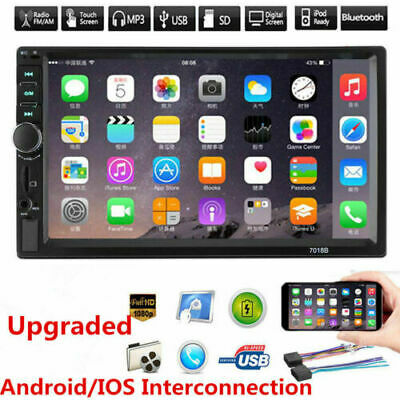 7   Double 2 DIN Car FM Stereo Radio USB MP5 MP3 Player Touch Screen Bluetooth P • 26.99£
