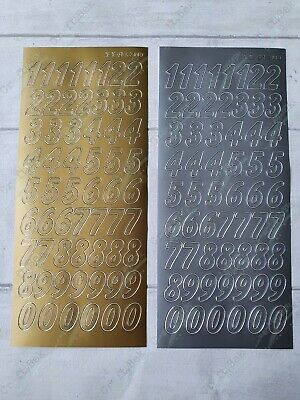 £1.20 • Buy JEJE Peel Off Outline Stickers - Large Numbers - Gold & Silver !FREE P&P!