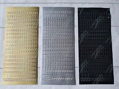 £1.20 • Buy JEJE Peel Off Outline Stickers - Small Numbers - Gold Silver Black !FREE P&P!