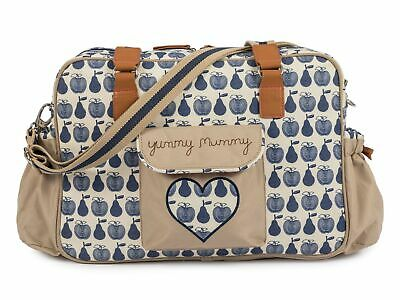 £81.50 • Buy Pink Lining Yummy Mummy Wickeltasche Apples And Pears Blau