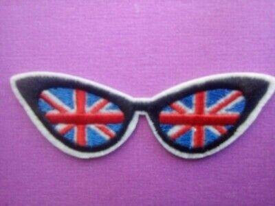 Sun Glasses Union Jack Sew Or Stick On  Patch.retro,kitsch  Style • 2.79£