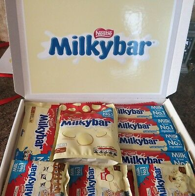 £12.35 • Buy Milky Bar Buttons White Chocolate Gift Box Personalised Babys 1st Birthday Xmas