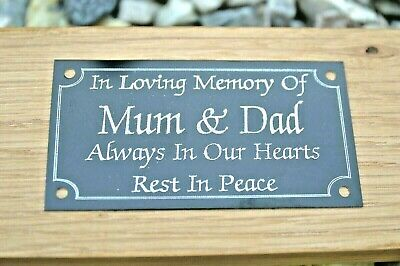 Black Metal Memorial Bench Plaque Grave Sign Personalised Engraved 4 X2  Or 5x2  • 6.99£