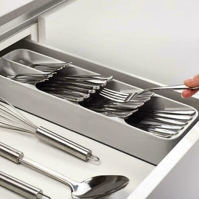 AU29.50 • Buy Joseph Joseph Drawer Store Compact Cutlery Organiser Kitchen Utensil GREY