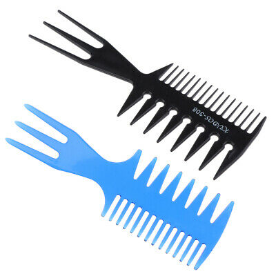 £4.32 • Buy 3 Sides Hairdressing Styling Comb Pick Hair Afro Large Wide Tooth Comb 2pcs
