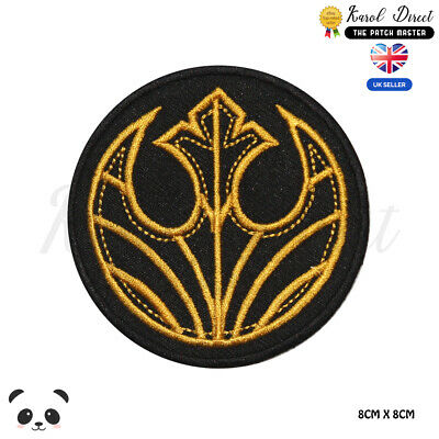 STAR WARS Black Squadron Embroidered Iron On Sew On PatchBadge • 1.99£