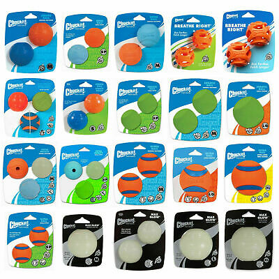 Chuckit Balls Toys Dog Puppy Bouncy Fetch ULTRA Erratic Max Glow Strato Medley • 8.95£