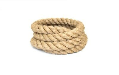24mm 100% Natural Twisted Jute Rope Braided Decking Garden Boating Camping • 1.08£