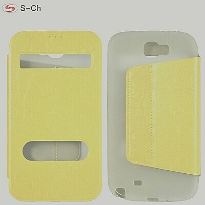 AU9.95 • Buy S-CH Pearl Pu Leather (for Samsung Galaxy Note 2 Note II N7100) Flip Case Stand