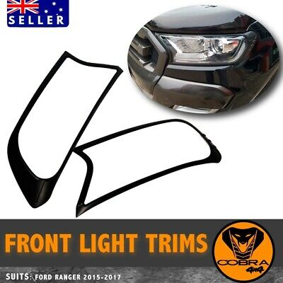 AU49 • Buy Black Head Light Lamp Front Cover Trim For Ford Ranger Px2 Px3 2015 - 2019