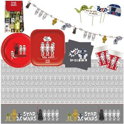 £3.49 • Buy Star Wars Retro Party Supplies Tableware, Party Bags Balloons & Decorations
