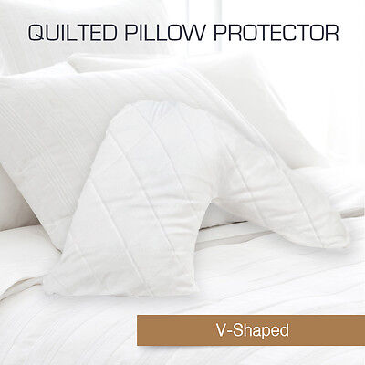AU14 • Buy Quilted Australia Made V-Shape/Tri/Boomerang Pillow Protectors Case Cotton Cover