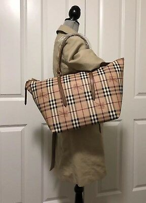 c8cc2675c5be NWT Burberry Haymarket Medium Salisbury Tote Shoulder Bag