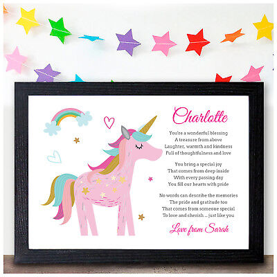 Personalised UNICORN Gifts For Girls Daughter Grandaughter Christmas Birthday  • 5.95£