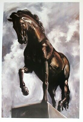 $80.03 • Buy Carl White Lithograph Poster Majestic Steed Horse Stallion Equestrian 2001 27x39