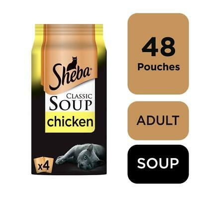 £21.99 • Buy 48 X 40g Sheba Classics Soup Wet Cat Food Pouches With Chicken Fillets