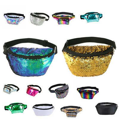 £5.99 • Buy Bum Bag Fanny Pack Sequin Shiny Travel Holiday Money Wallet Festival Belt Pouch