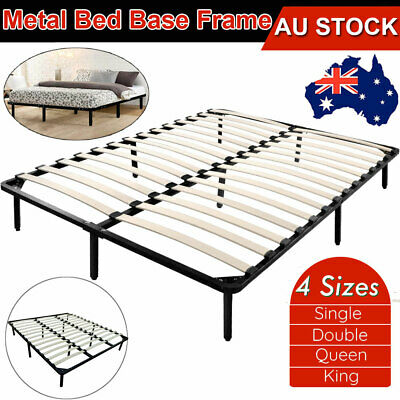 AU122.85 • Buy QUEEN DOUBLE KING SINGLE Metal Bed Frame Mattress Base Platform Foundation 4Size