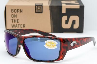 7bcc5461e0a NEW COSTA DEL MAR CAT CAY SUNGLASSES Tortoise   Blue Mirror 580P Polarized  Lens • 93.95