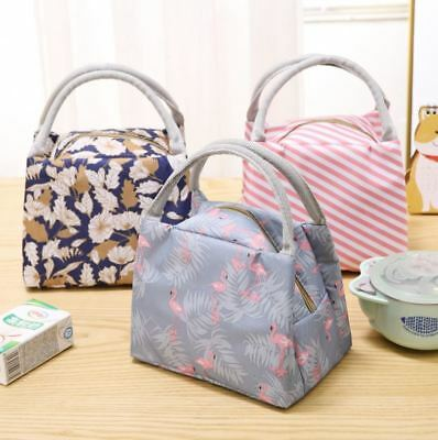 AU9.95 • Buy Portable Thermal Insulated Cooler Lunch Bag Carry Tote Lunch Box Storage Bag