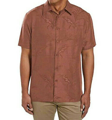 $23.17 • Buy Woody's Retro Lounge Rust Jacquard Shirt With Tropical Print Embossed