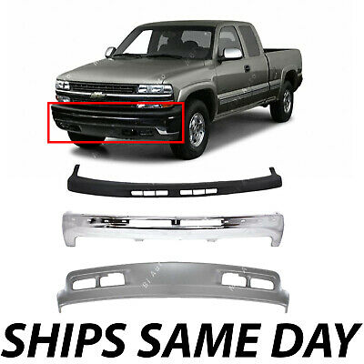 $300.99 • Buy NEW Complete Full Front Bumper Kit For 1999-2002 Chevy Silverado GMC Sierra 1500