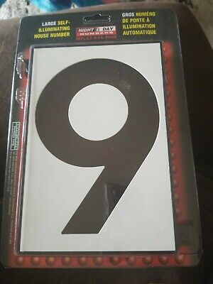 Enviromate #9 Large Self Illuminating House Number  9  W/ Red L.E.D Lighting  • 7.81£