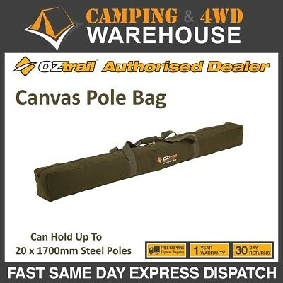 AU39.95 • Buy OZTRAIL CANVAS TENT POLE BAG - FITS UP TO 20 X 1700 Mm  STEEL TENT POLES