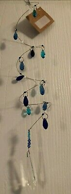 $15 • Buy Hanging Prism Drop With Blue And Turquoise Glass