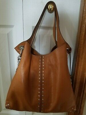 a6a20755ddb0a5 ~MICHAEL KORS~ Astor LG Chain Leather Satchel Saddle EUC! • 144.00$