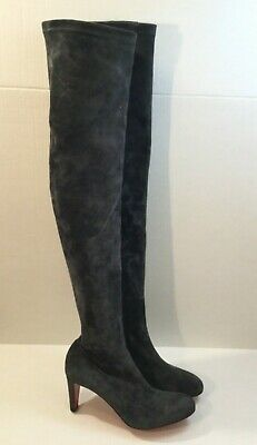 outlet store a69e0 8833c christian louboutin over the knee boots