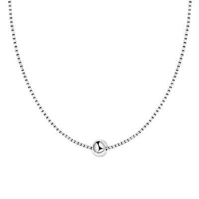 Sterling Silver 4mm Ball Bead Circle Round Choker Box Chain Necklace Boxed • 9.85£
