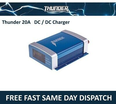 AU229.99 • Buy Thunder 20a Amp Dual Battery Isolator System Kit Dc To Dc Charger Mppt Solar Agm