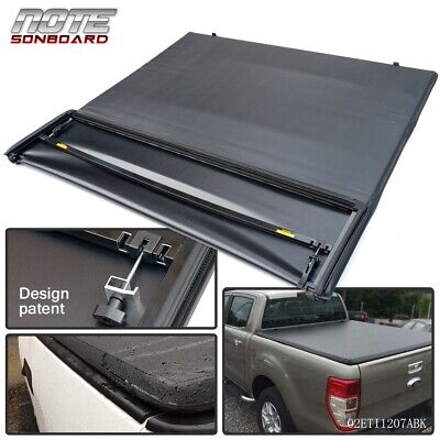 $157.50 • Buy For 1997-2003 Ford F-150 6.5ft/78in Bed Black Four Fold Soft Tonneau Cover