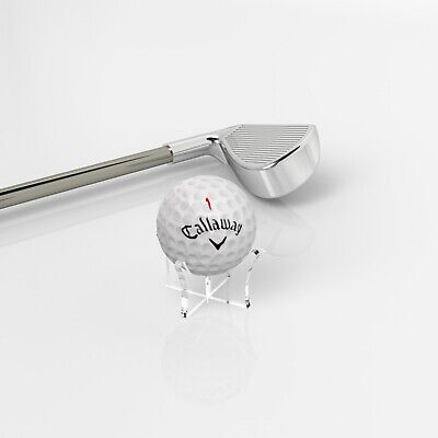 Acrylic Golf Ball Display Stand / Perspex Riser Plinth Signed Autographed Holder • 1.99£