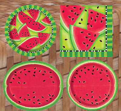 Watermelon Fruit Party Tableware Decorations Supplies Hawaiian Luau Summer BBQ   • 2.20£