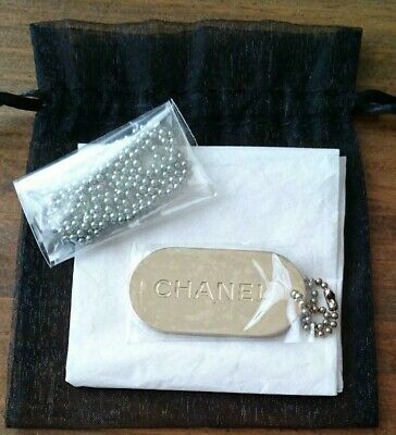 £100.88 • Buy CHANEL Logo Plate Chain Pink Silver Key Holder Authentic Novelty VIP GIFT 2012