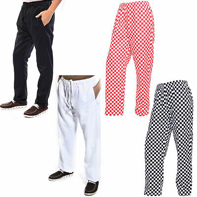 Chef Trousers Catering Pants Kitchen Trousers Large Check 3 Pockets • 13.49£