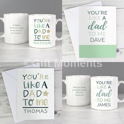 £10.99 • Buy Personalised 'You're Like A Dad To Me' Cards & Mugs, Step Dad Gifts, Fathers Day