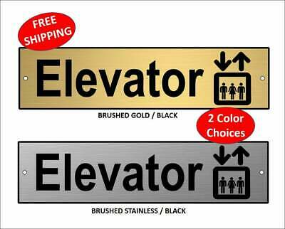 $10.99 • Buy  Elevator  Sign With Graphic, Elevator Sign, Office Sign, Wall Sign 2  X 8