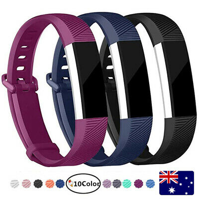 AU5.99 • Buy Replacement Band For Fitbit Alta HR Silicone Wrist Watch Band Secure Buckle AU