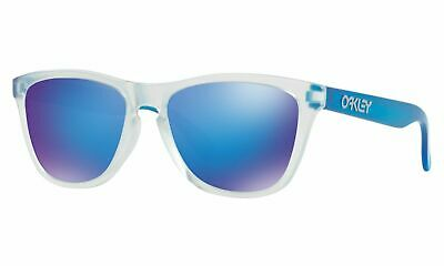 ef9c878886f NEW Oakley Frogskins 9245-5154 Sunglasses Matte Clear Frame Torch Iridium  Lenses • 59.99