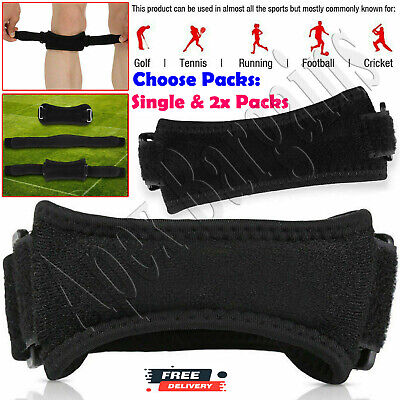 Adjustable Patella Tendon Strap Knee Support Jumpers Runners Pain Band Brace • 4.39£