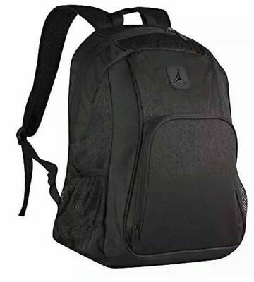 92d5be12afc8ac Nike Air Jordan Elephant Print Backpack 9A1456-KK2 NWT Triple Black 18 X 12  X